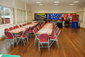 church hall party tables