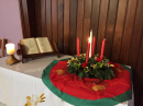 Week 1 Advent Candle in Church