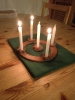 Advent wreath complete