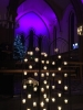 Candle screen all lit for a Christmas Service
