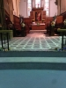 Staging and extended marble flooring from the Chancel