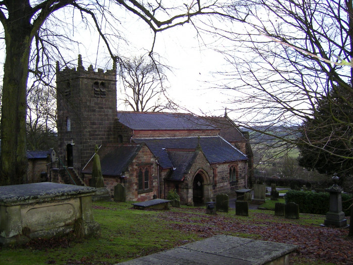 Outside from churchyard
