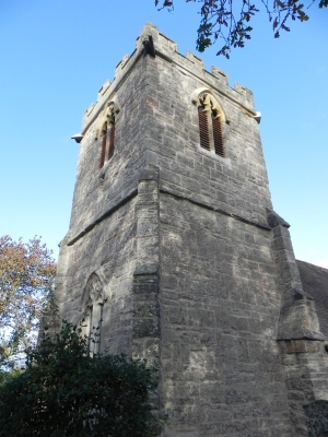 Picture of the restored bell tower at St Peter's, Abbots Morton