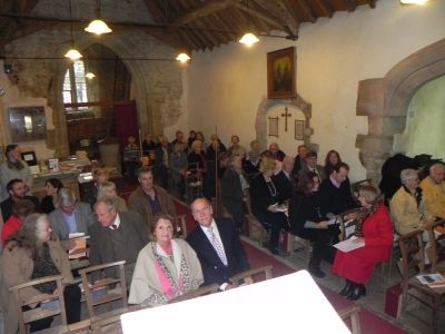Picture of the bell tower thanksgiving service at St Peter's, Abbots Morton