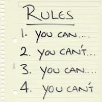 Picture of a list of rules
