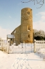 Gayton Thorpe tower in the snow