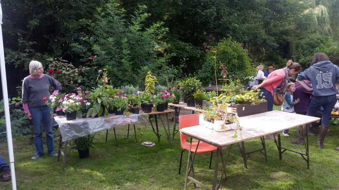 The plant stall is a popular draw for discriminating gardeners
