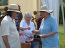 Great hats from John & Jane Baxter while Phyllis manages without