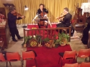 The Peregrine String Trio in rehearsal