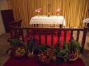 Harvest Decorations before the communion rail