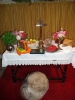 Harvest offerings on the altar