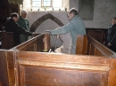 6 Waylay a couple of parishioners to give a hand when the font proves too heavy