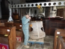 7 Re-erect the gantry over the place where the font is going