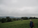 Clouds loom – unproductively as it turned out - over the Black Mountains