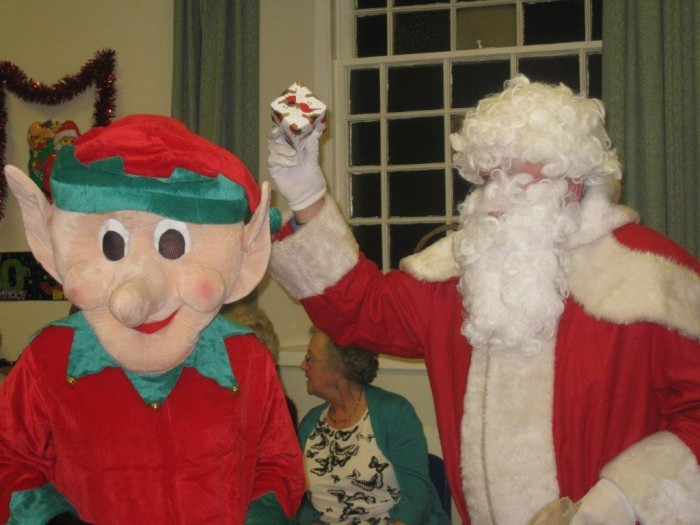 Here come Santa and Elfie!