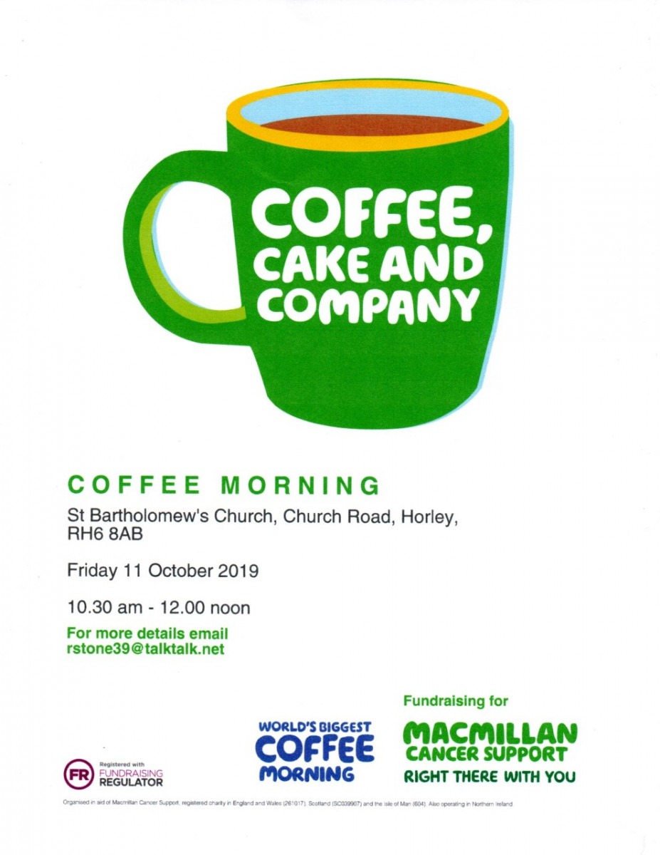 St Bart's Macmillan Cancer Support Coffee morning