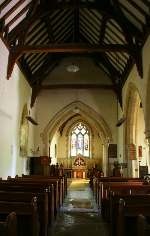 central view inside St Michael & All Angels, Whitwell