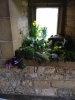 Easter garden in porch window