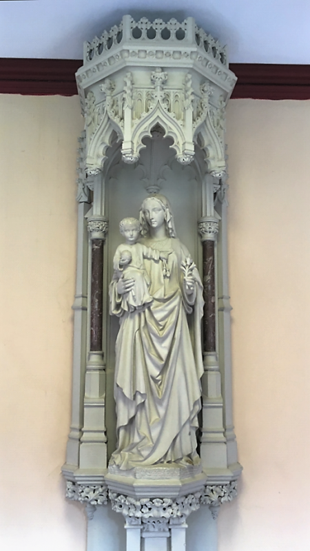 Our Lady,  patron of the College