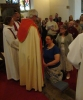 Janet prepares to be anointed and confirmed