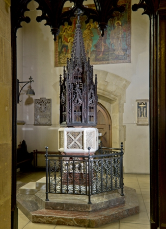 The Font in St Andrew's Church