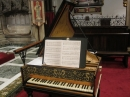 photo of the harpsichord keyboard and music
