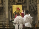 The Bishop anoints the new Ikon with the oil of Chrism
