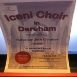 Open 26th October Iceni Choir at St. Nicholas Church