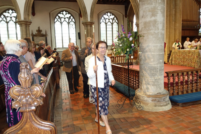 Churchwardens from across the Benefice processed for the service