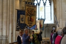 Kate Baldry proudly carried our beautiful banner for the processions during the service.