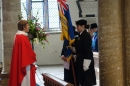 Revd.Sally Theakston accepts the Standard