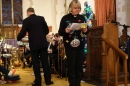 Revd Gill Wells began and ended the Carol Service