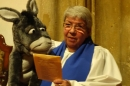 Lay Minister Evelyn Speed and Desmond Donkey
