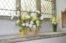 A basket full of Easter, with the addition of the  perfume from 'John Quills' and carnations.