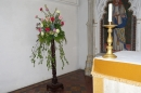 Flowers in the chancel, next to the High Altar.