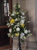 One of the many beautiful pedestals which adorned the church.