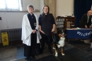 Revd. Sally and Revd Dominique led the service, helped by Bella, the Burmese Mountain Dog.