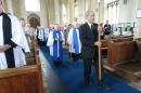 Gerry Palmer leads the procession at the beginning of the service