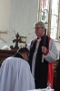 Bishop Graham b lesses the new Team Vicar