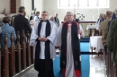 The end of the formalities of the service for our new Team Vicar.