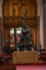 St Nicholas altar and Christmas tree.