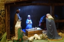 The Nativity Scene always takes 'centre stage' in front of the altar, so Congregations are reminded of God's great gift of His Son, Jesus, to us.