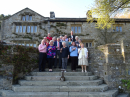 Church holiday at Parcevall Hall April 2019 - a group photo.  Don't they look smart!