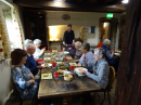 Church holiday to Parcevall Hall April 2019 - delicious food and great conversation