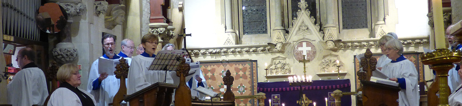 The organist accompanying the hymns