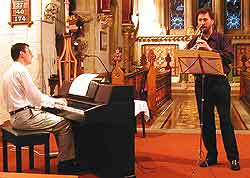 A recital in church