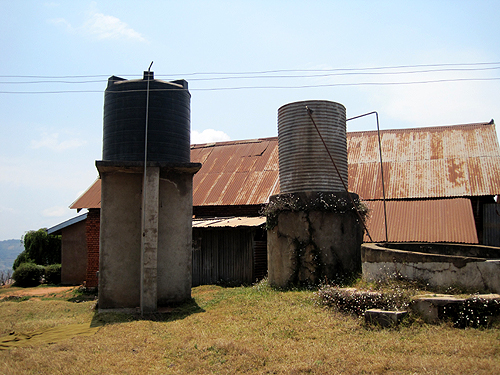 The hospital's water tanks