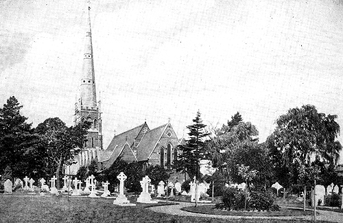 The churchyard in 1909