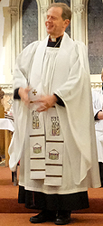 Surplice, cassock and scarf
