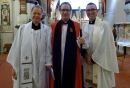 The Reverend Derek Winterburn with The Right Reverend Dr Graham Tomlin, Bishop of Kensington, The Reverend Joe Moffatt, Area Dean of Hampton